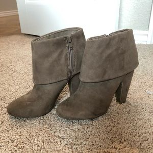 Taupe Heeled Booties